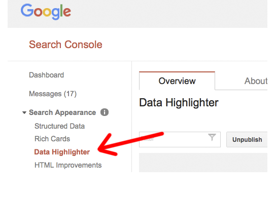 google_highlighter_under_search_console